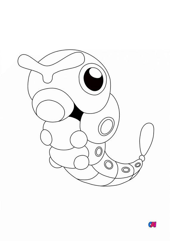 Coloriage Pokémon - 10 - Chenipan