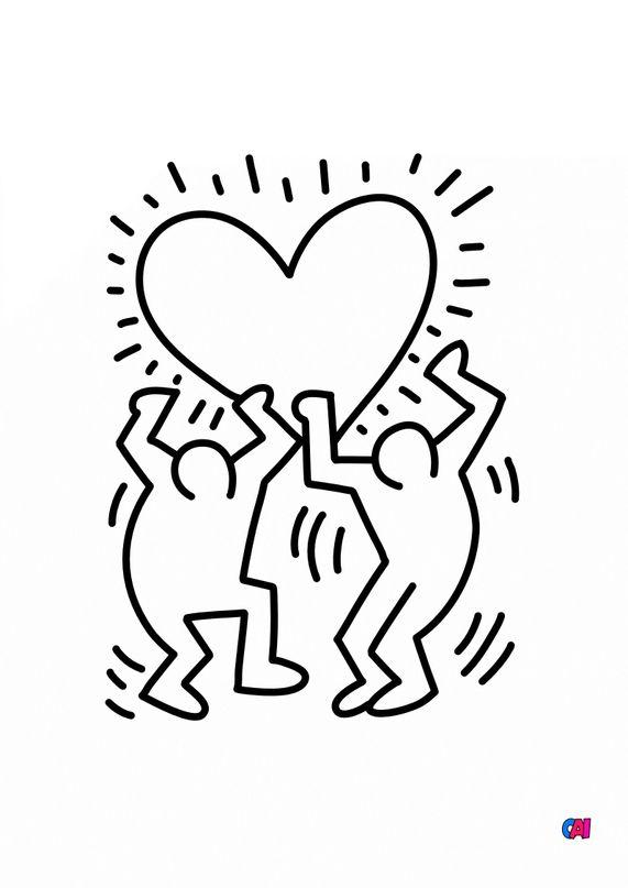 Coloriages de bâtiment et d'oeuvres d'art - Keith Haring