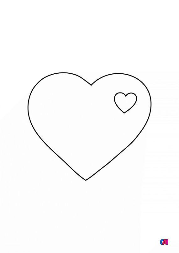 Mes premiers coloriages - Coeur dans un coeur