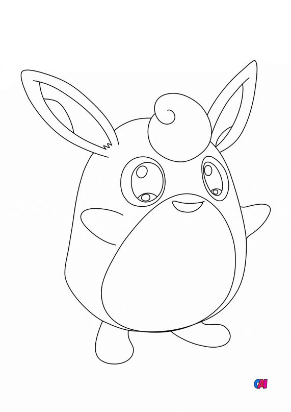 Coloriage Pokémon - Pokemon - 40 - Grodoudou