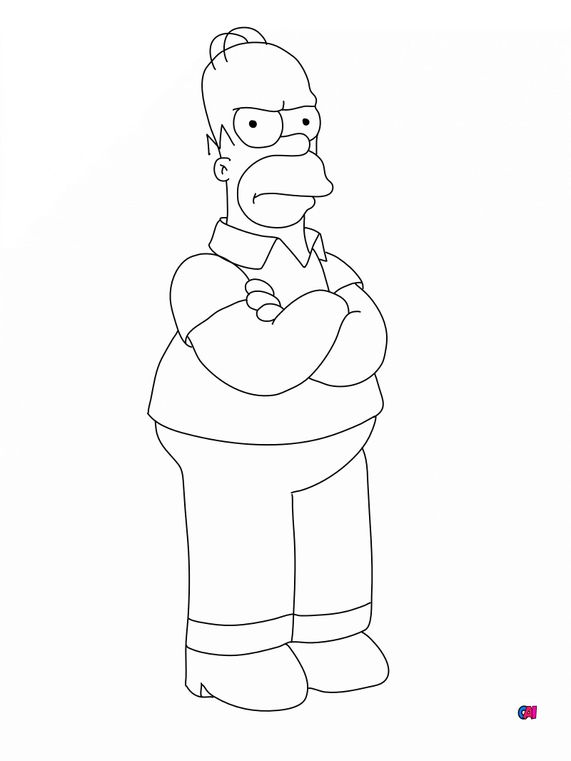 Coloriage Simpson - Homer Simpson