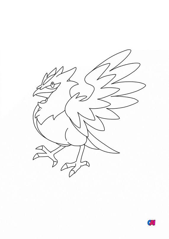 Coloriage Pokémon - 822 - Bleuseille
