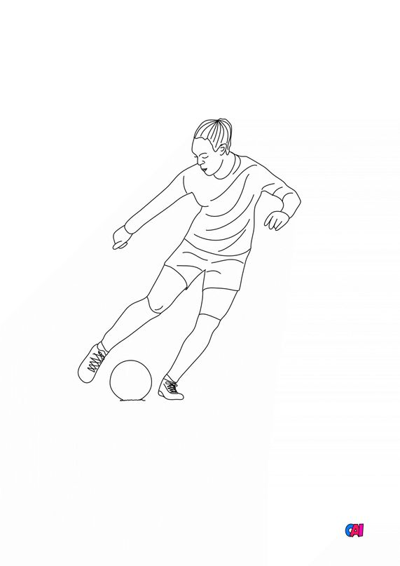 Coloriage Football - Footballeuse