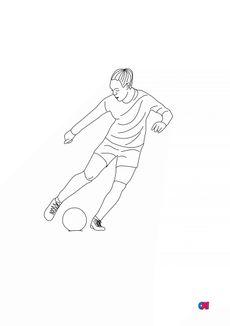 Coloriage Footballeuse