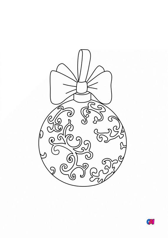 Coloriage de Noël - Boule de Noël baroque