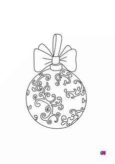 Coloriage Boule de Noël baroque