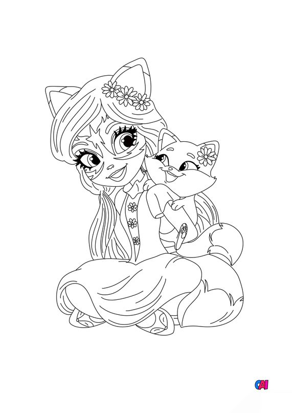 Coloriage Enchantimals - Felicity et Flick