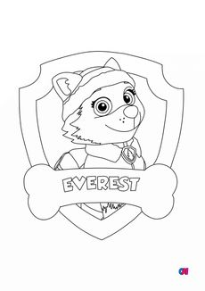 Coloriage Evrest badge