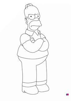 coloriage Les Simpson