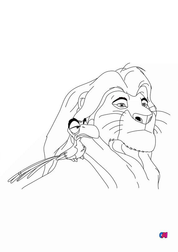 Coloriage Roi Lion - Simba et Zazu