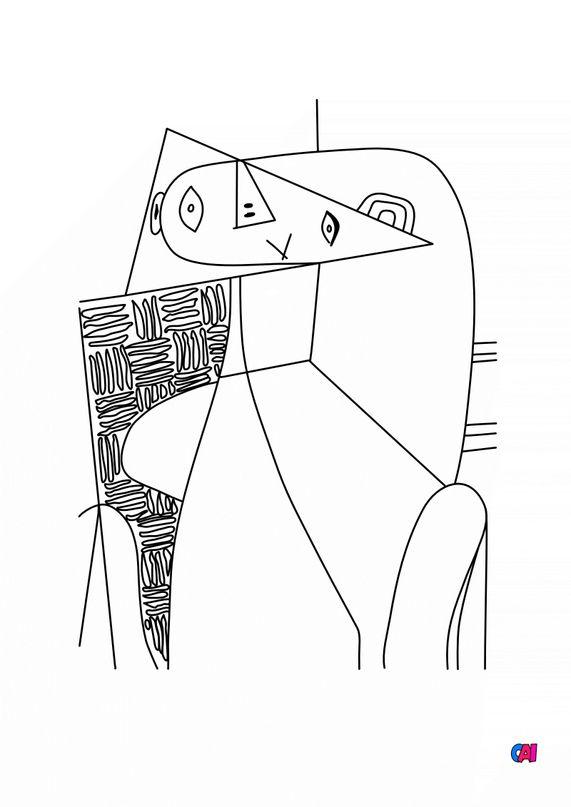 Coloriages de bâtiment et d'oeuvres d'art - Tableaux magiques - Picasso