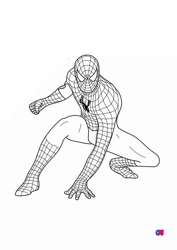 Coloriage Spiderman A Imprimer Spiderman