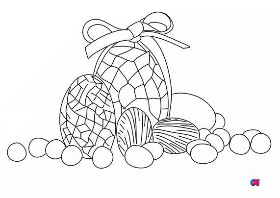 Coloriage Pâques - Oeufs de pâques