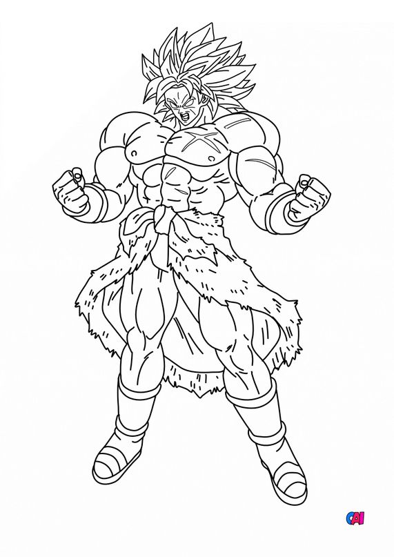Coloriage dragon ball z - Broly