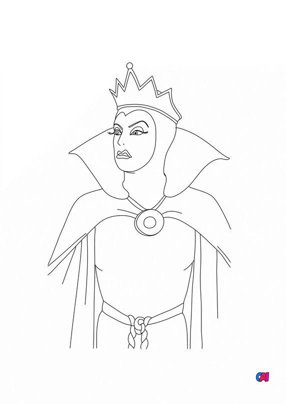 Coloriage Blanche Neige - La reine