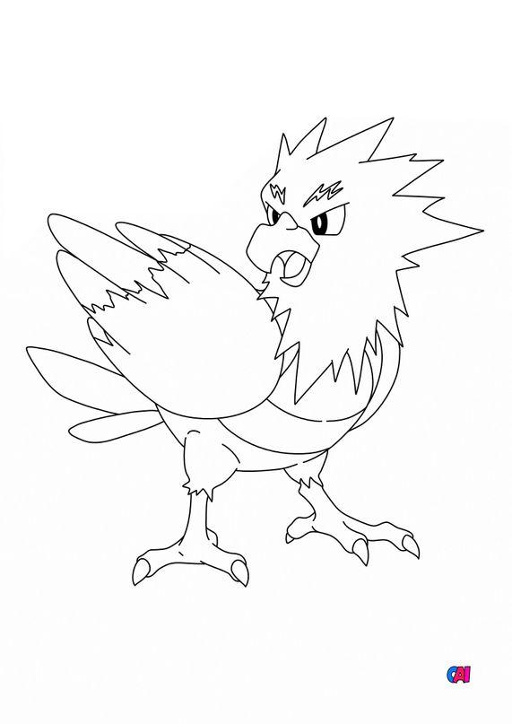 Coloriage Pokémon - 21 - Piafabec
