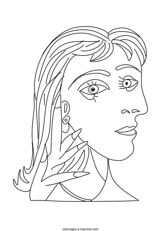 Coloriages de bâtiment et d'oeuvres d'art - Picasso - Dora Maar
