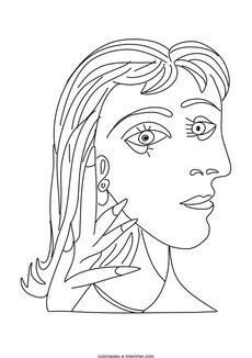Coloriage Picasso - Dora Maar