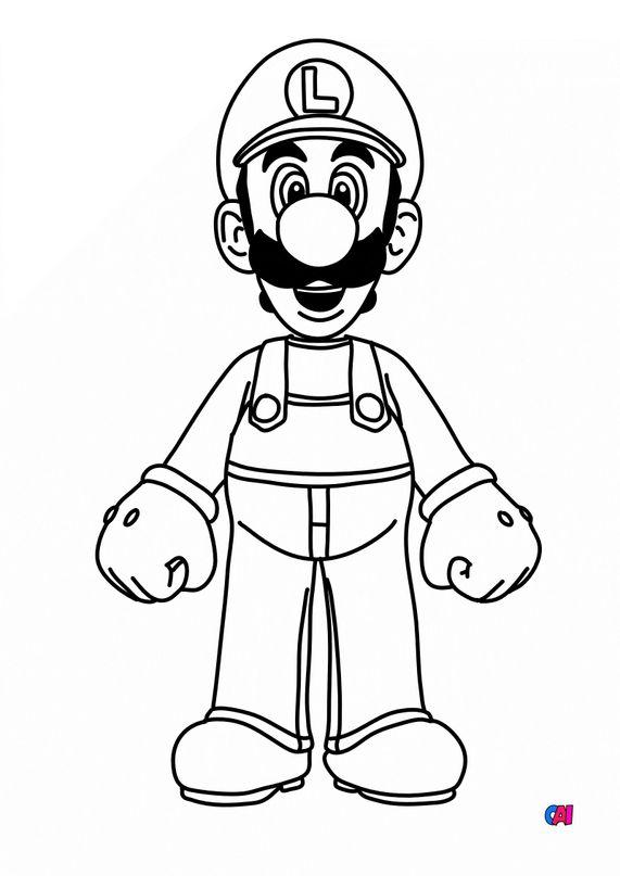 Coloriage Mario - Luigi
