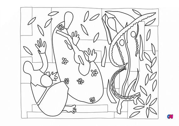 Coloriages de bâtiment et d'oeuvres d'art - La tristesse du roi Matisse