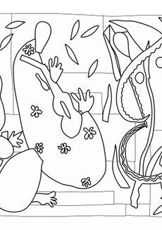 Coloriage La tristesse du roi Matisse