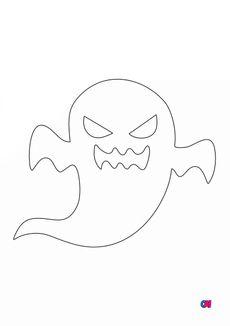 Coloriage Fantôme effrayant