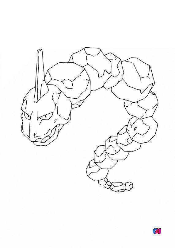 Coloriage Pokémon - 95 - Onix
