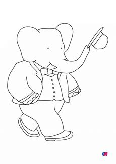 Coloriage Babar