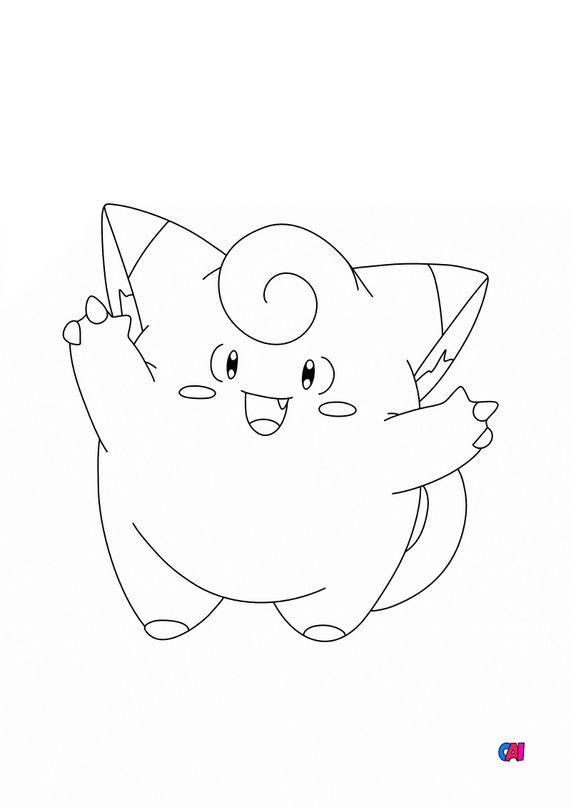 Coloriage Pokémon - 35 - Mélofée