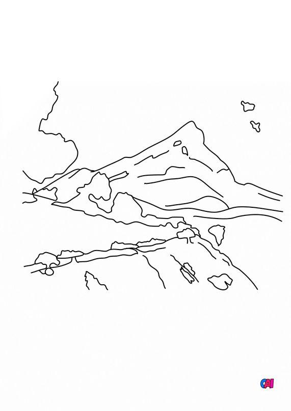 Coloriages de bâtiment et d'oeuvres d'art - La montagne Sainte- Victoire - Paul Cézanne