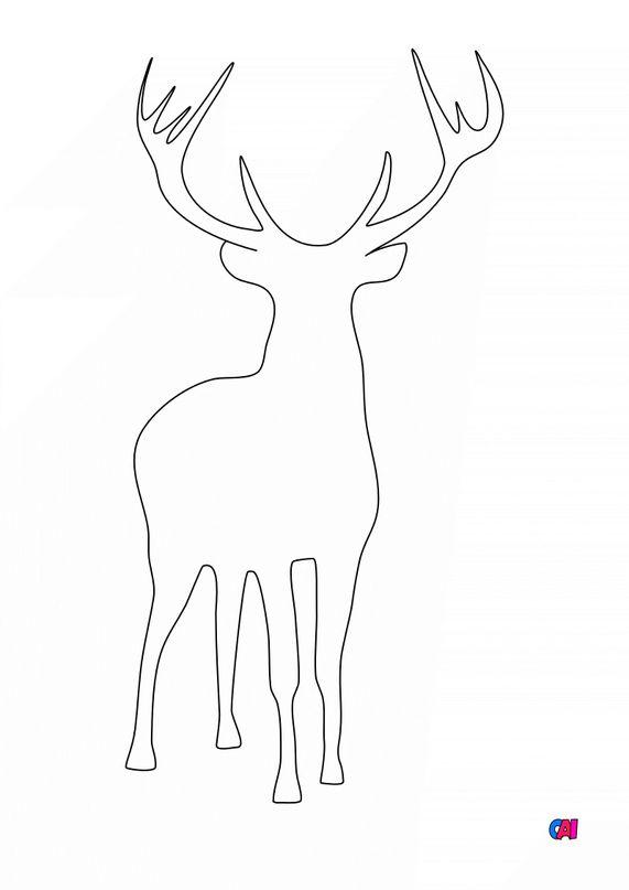 Coloriage de Noël - Renne 2