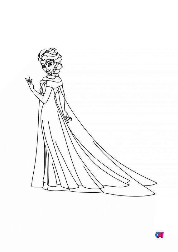 Coloriage la reine des neiges - Elsa transformée