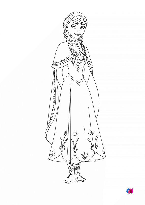 Coloriage la reine des neiges - La reine des neiges - Anna