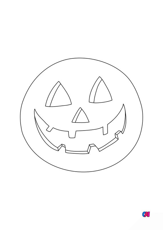 Coloriages Halloween - Citrouille 5