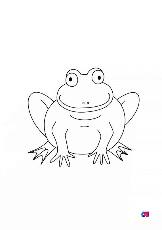 Coloriages d'animaux - Une grenouille
