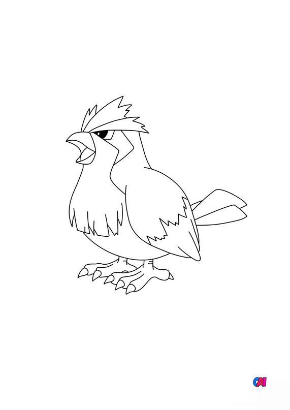 Coloriage Pokémon - 16 - Roucool