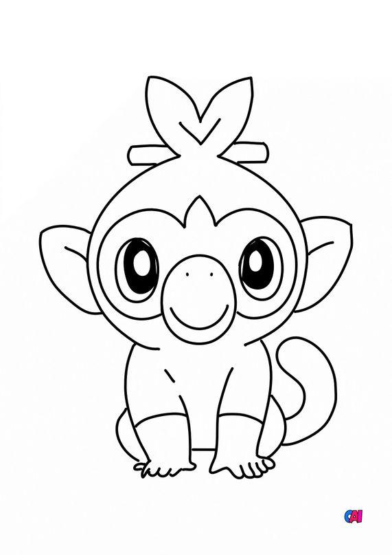 Coloriage Pokémon - Ouistempo