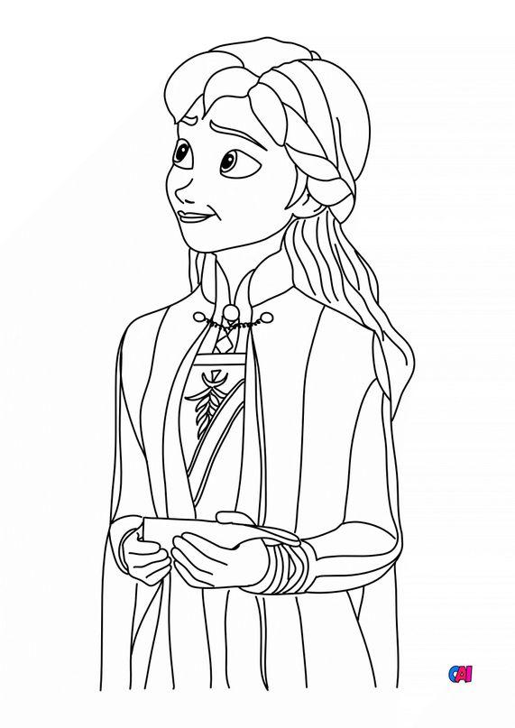 Coloriage la reine des neiges - Anna la Reine des neiges 2