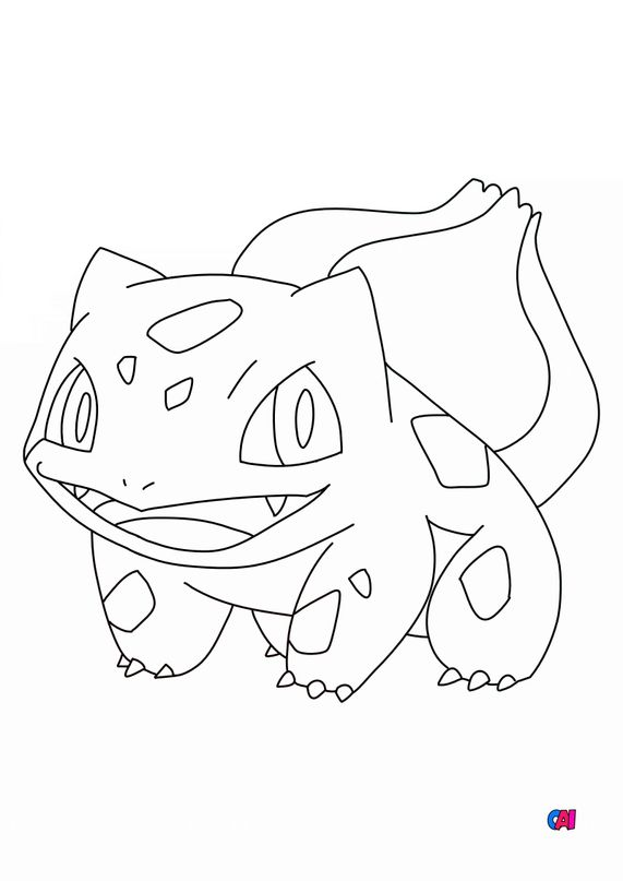 Coloriage Pokémon - Bulbizarre