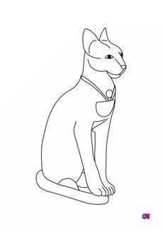 Coloriage Le chat sacré