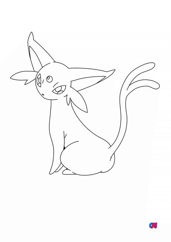 Coloriage Pokémon - 196 - Mentali