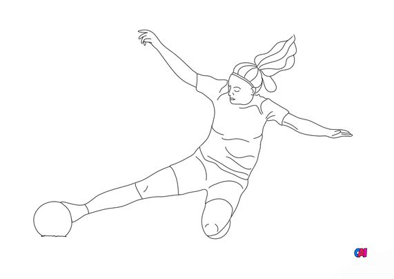 Coloriage Football - Foot féminin