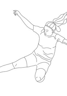 Coloriage Foot féminin