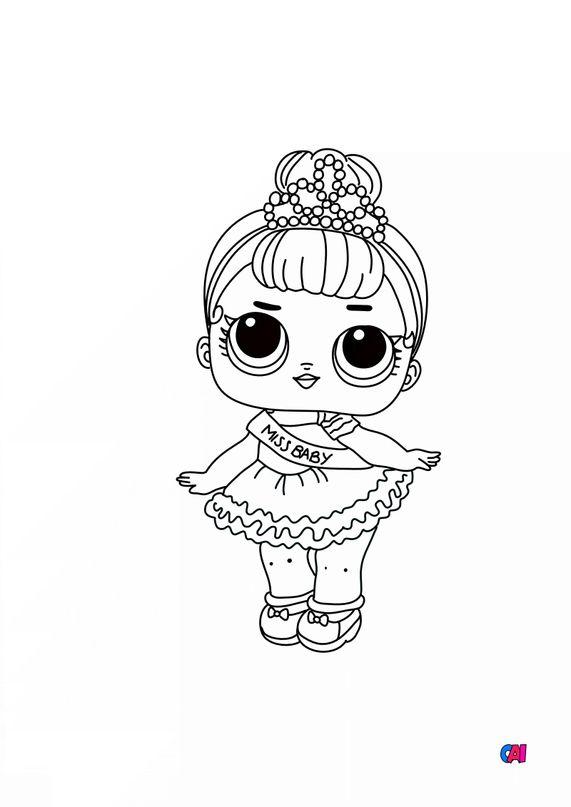 Coloriage Poupée Lol - Miss Baby