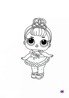 Coloriage Miss Baby