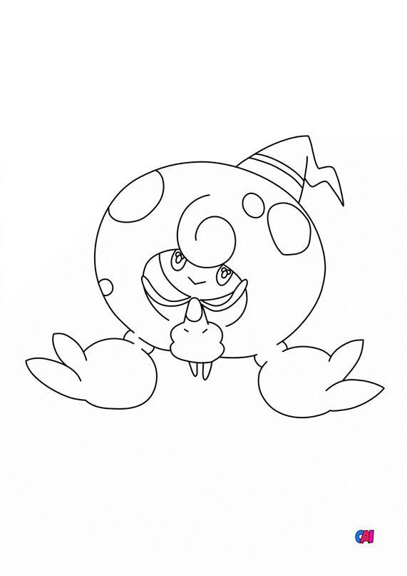 Coloriage Pokémon - 857 - Chapotus