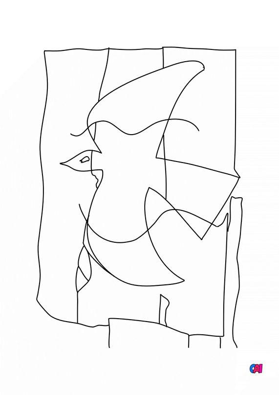 Coloriages de bâtiment et d'oeuvres d'art - Georges Braque