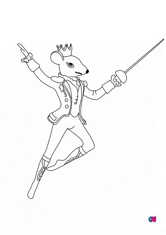 Coloriage Casse-Noisette - Le roi des souris