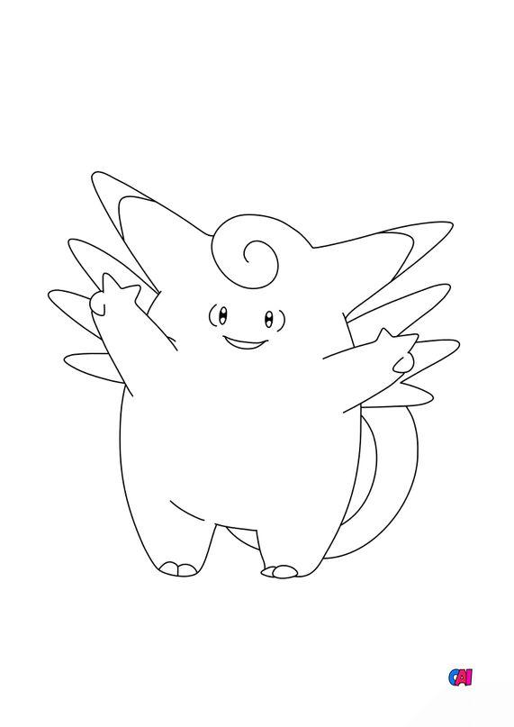 Coloriage Pokémon - 36 - Mélodelfe