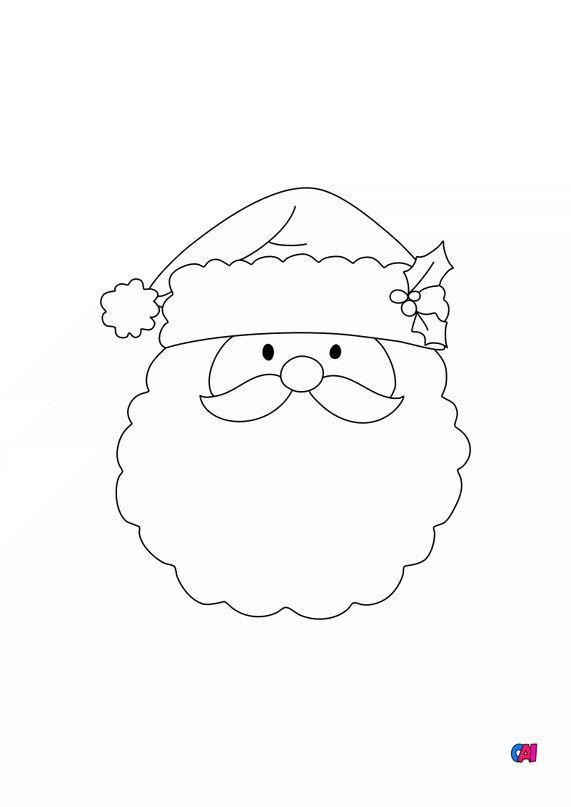 Coloriage de Noël - Père Noël 6